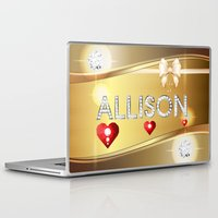 allison argent Laptop & iPad Skins featuring Allison 01 by Daftblue