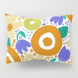 Bold Abstract Floral Inspired Pattern (Harvest Colors) Pillow Sham