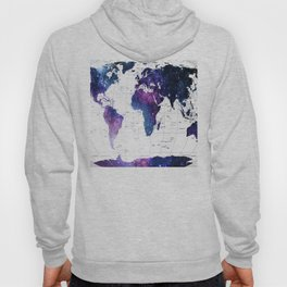 ALLOVER THE WORLD-Galaxy map Hoody