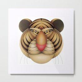 compasses tiger Metal Print