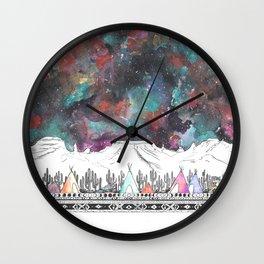 Desert Camp Vibes Wall Clock