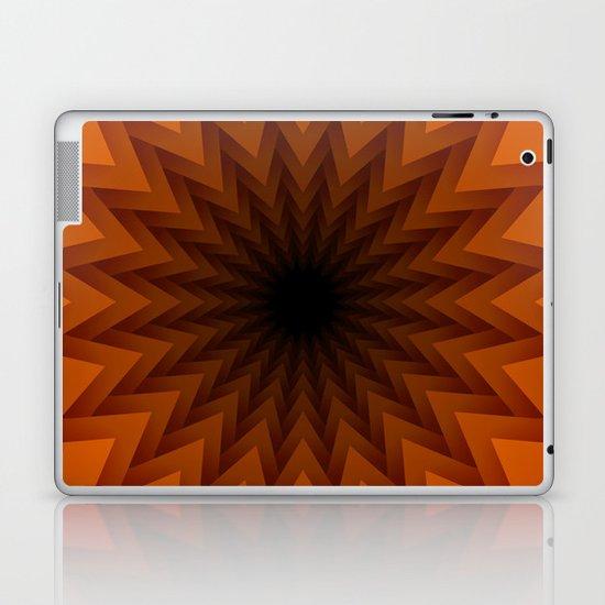 Orange Lotus Design Laptop & iPad Skin