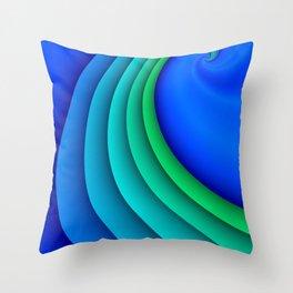fluid -47- Throw Pillow