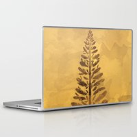 arya Laptop & iPad Skins featuring Feather Tree in warm colours by Hinal Arya