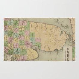 Vintage Map of Michigan (1838) Rug