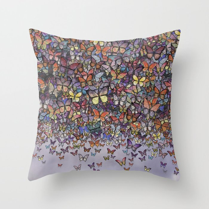 butterfly cascade Throw Pillow