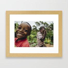 Shy Kids, Mozambique Framed Art Print