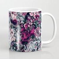 dahlia Mugs featuring Dahlia by RIZA PEKER