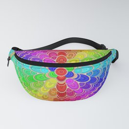 Colorful Mandala Flower Fanny Pack