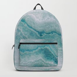 Sea green marble texture Backpack