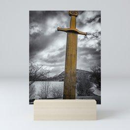 Llanberis Sword Snowdonia Mini Art Print