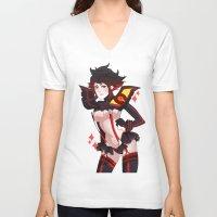 kill la kill V-neck T-shirts featuring Kill La Kill by Pachiiri