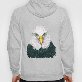 Bald eagle portrait Hoody