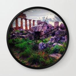 Selinunte Wall Clock