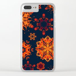 warm watercolor snowflakes Clear iPhone Case