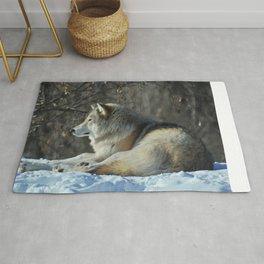 Wolf resting Rug