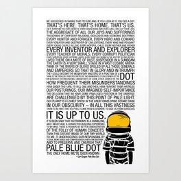 Pale Blue Dot: Carl Sagan Art Print