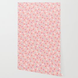 Pink Sprinkle Confetti Pattern Wallpaper