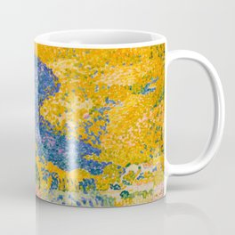 Henri-Edmond Cross Neo-Impressionism Pointillism Valley with Fir Shade on the Mountain Oil Painting Coffee Mug