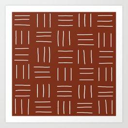 Rust Mudcloth Art Print