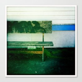 Green Bench Canvas Print
