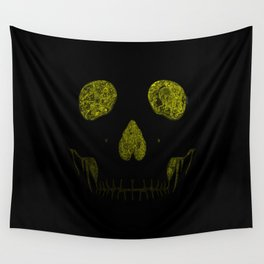 SKULLFACE #1 - YELLOW Wall Tapestry