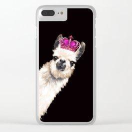 Llama Queen Clear iPhone Case