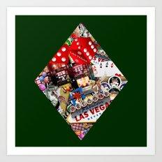 Diamond Playing Card Shape - Las Vegas Icons Art Print