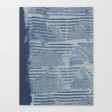 Indgo Paste Print Canvas Print