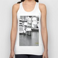boats Tank Tops featuring Boats BW by BeachStudio