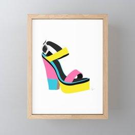 60s 70s Platform Retro Colorblock Shoe Framed Mini Art Print