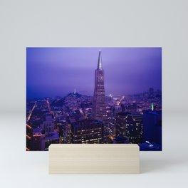 San Francisco Skyline at Night (Transamerica Pyramid) Mini Art Print