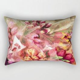 Spoken Without Sound - Flower Art Rectangular Pillow