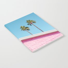 Pink House Roofline with Palm Trees (Palm Springs) Notebook