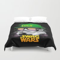 swag Duvet Covers featuring Stormtrooper Swag by Heretic
