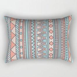 Tribal #4 (Coral/Aqua) Rectangular Pillow