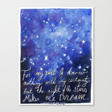 The Sight of the Stars Canvas Print