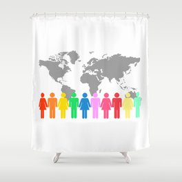 Be Engaged in Sharing the Gospel of Christ Shower Curtain