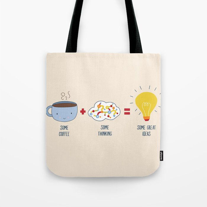 Some Coffee + Some Thinking = Some Great Ideas Tote Bag