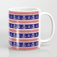 anchors Mugs featuring anchors by Manoou