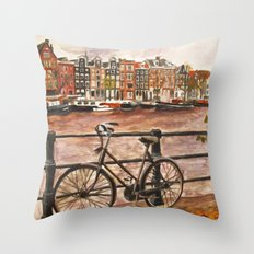 Going Dutch (red) Throw Pillow