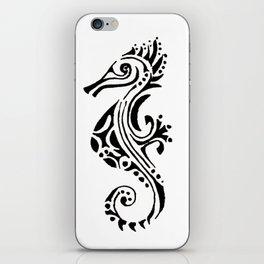 seahorse tatoo white iPhone Skin