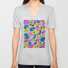 Random Faces Unisex V-Neck