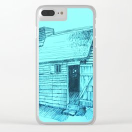 Turquoise New World Clear iPhone Case