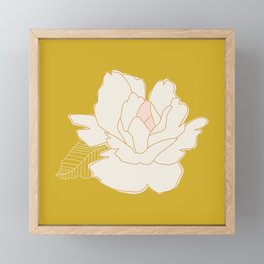 Outline Floral No. 1 Framed Mini Art Print