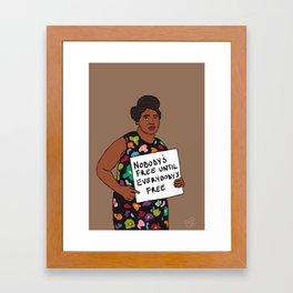Fannie Lou Hamer on Freedom Framed Art Print