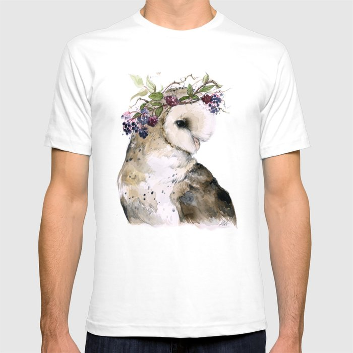 Flower Crowned Barn Owl T-shirt