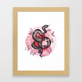 Black Snake Framed Art Print