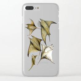 Chilean devil manta ray (Mobula tarapacana) Clear iPhone Case