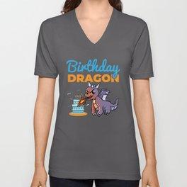 Birthday kids Children Dragon Unisex V-Neck